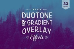 33组 Photoshop 调色动作 Duotone Actions Photoshop Bundle