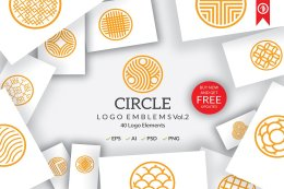 圆形 Logo 标志素材包 Circle Logo Emblems Bundles Vol.2 [EPS, AI, PSD]