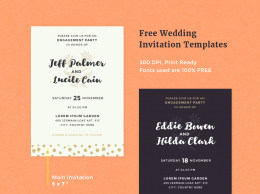婚礼邀请卡/请帖模板Free Wedding Invitation Templates