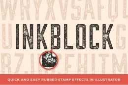 墨块插画PS动作文件 Inkblock – Illustrator Actions