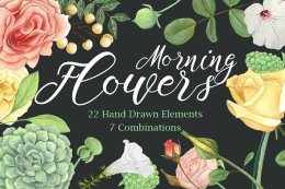 Morning Flowers-Floral Clip Art Set