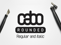 Cabo Rounded:Regular   Italic字体样式