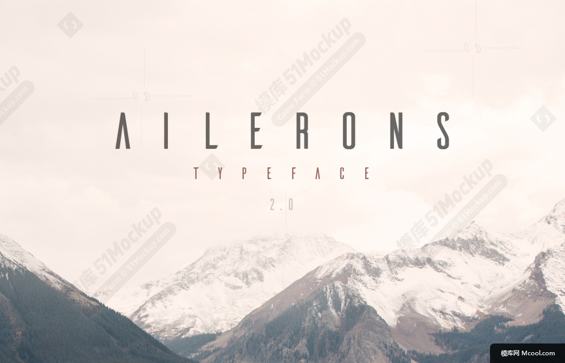 Ailerons字体 -