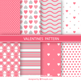 情人节矢量图案 Variety of valentine patterns