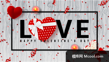 情人节矢量素材Valentine's Day Vector 201800101504 -