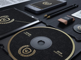 黑金风格品牌VI模版Gold And Black Corporate Identity