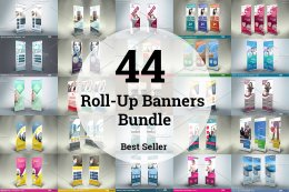44 RollUp Banners Bundle易拉寶模板集
