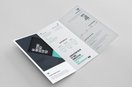 TriFold Brochure PSD TemplateFREE