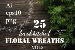 25个手绘双手花环25 handsketched wreaths VOL2