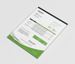 个人简历设计模板MS Word corporate invoice template