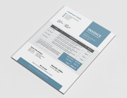 简约简洁简历设计模板Elegant business Word invoice design