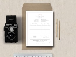 图表表格设计模板Photography Studio Invoice Template