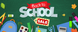 开学季促销矢量海报Back to school sale horizontal banner681074320