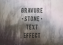 石头雕刻效果文字特效Psd Engraved Stone Text Effect