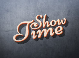 3D立体效果文字特效Showtime: 3D Text Effect 018