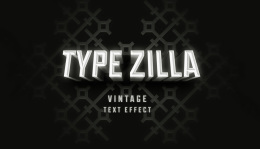 复古电影文字效果Type Zilla Psd Text Effect