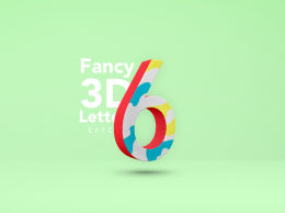 创意3D立体文字效果Fancy 3D Letter Psd Text Effect
