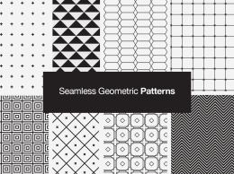 Seamless Geometric Vector Patterns无缝几何矢量图案
