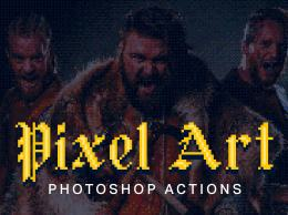 复古像素艺术 21 Pixel Art Photoshop Actions
