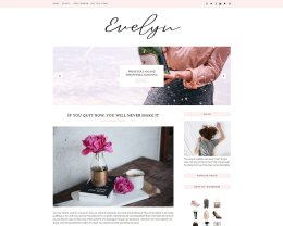 女性模板 Feminine Blogger Template  Eveline