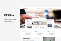 德里玛。多页缪斯模板 Derima. MultiPage Muse Template