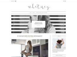 Minimal Blogger Template  Whitney