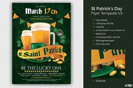 Saint Patricks Day Flyer PSD V5