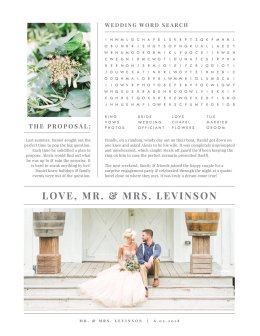 Photoshop的婚礼报纸模板 Wedding Newspaper Template