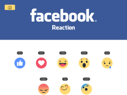 New Facebook like button Empathetic Emoji Reactions