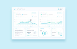 Simple IoT Dashboard 每日UI源文件分享 Daily UI 095FREE