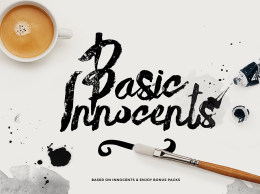 手写体英文字体笔刷Basic Innocents 153552