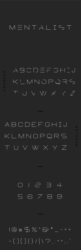 MENTALIST  FUTURISTIC DISPLAY FONT
