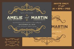 Fairytale Wedding Invite Template