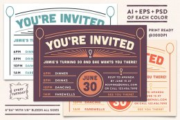 Invitation Postcard 2 Templates