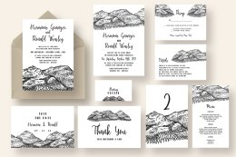 Pen and Ink Mountain Wedding Suite