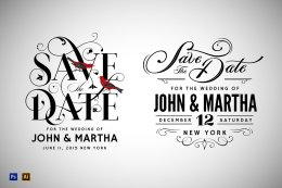 3 Vintage Save The Date Designs