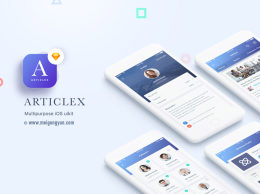 多功能多用途 APP UI 套件 Articlex Multipurpose iOS Ui Kit