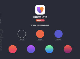 高品质运动健身类APP工具包Workout Training and Healthcare Apps UI Kit
