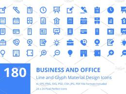 180个商业和办公图标 180 Business and Office Icons