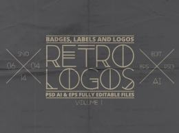 复古徽章,标签和logo模板 Retro Badges, Labels & Logos