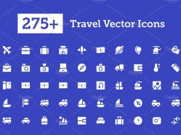 275+个旅行图标 275+ Travel Vector Icons