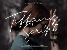 Tiffany Signature字体演示