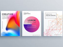 A4不规则抽象图形矢量封面设计Minimal Brochure Template Layout Cover Design In ...