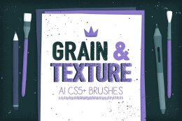 Ai矢量散点笔刷素材 Grain and texture AI brushes 990208
