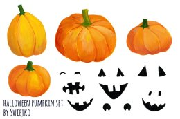 万圣节南瓜剪贴画 Halloween Pumpkin Clip art